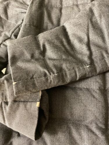 Moncler jolie doudoune taille 1 flanelle grise 100% authentique fourrure castor