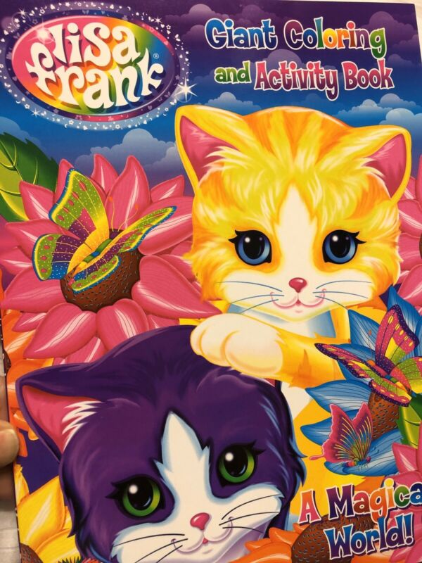 Lisa Frank Giant  Coloring And Activity Book A Magical World Cats New