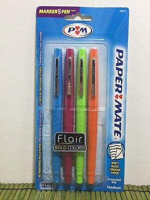 Paper Mate Flair Felt Tip Pens Medium Point Bold Colors 2005