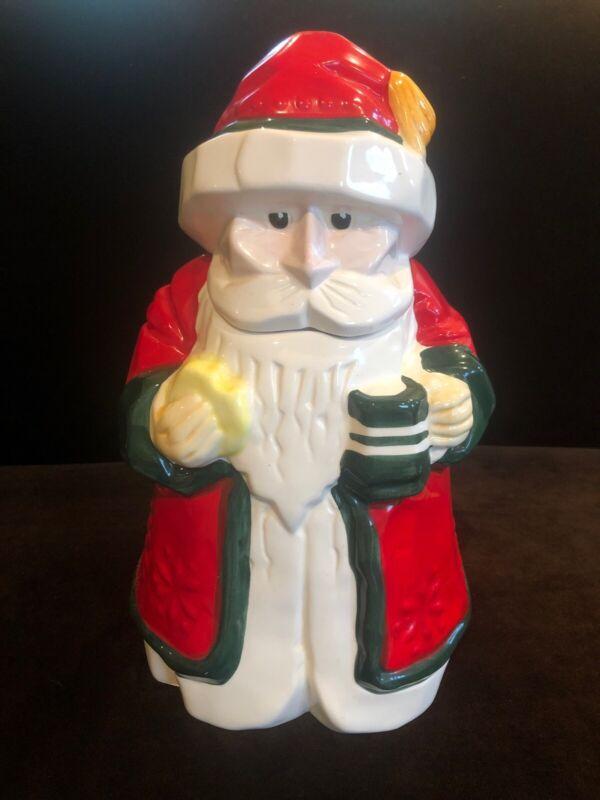 Unusual Modernist Santa Cookie Jar By Boston Warehouse 1993