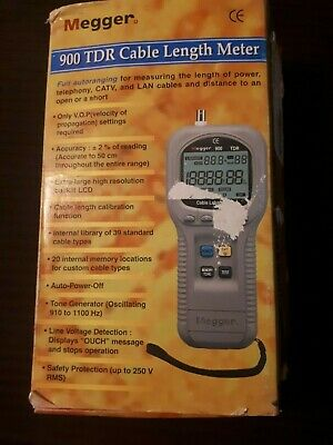 New Megger Tdr900 Time Domain Reflectometer Cable Length Meter