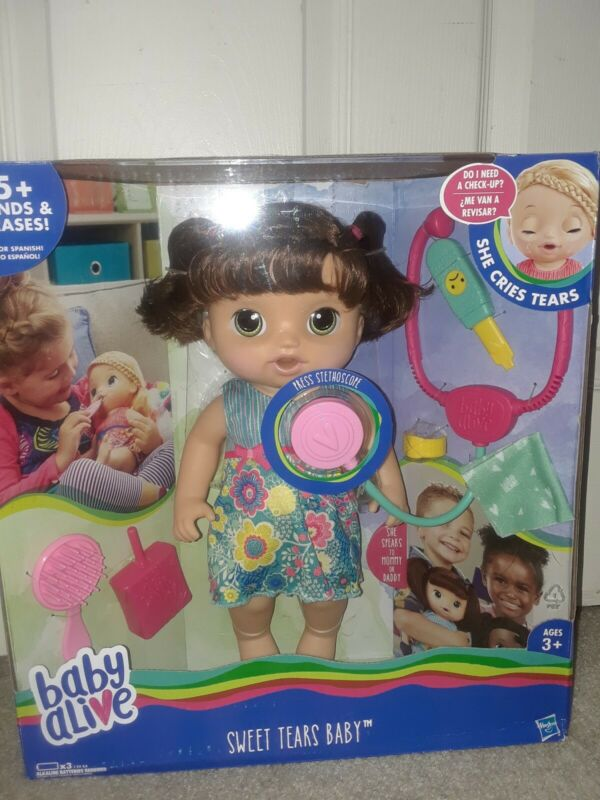 Baby Alive Sweet Tears Baby Brunette Cries Tears Speaks English Spanish Doll