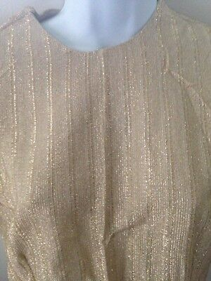 New 1970's -Women Top Women Clothes  Blouse Ladies Tops Gold thread-Look-Size 38 - 1970s Clothing For Women