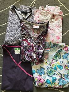 Women's Large scrub tops and bottoms