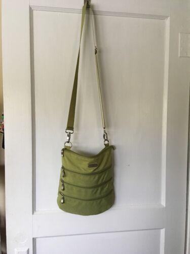Baggallini Lime Green Nylon Crossbody Zippered Bag