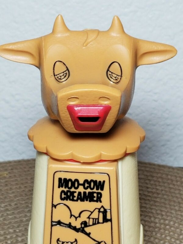 Whirley Industries Moo Cow Creamer USA Made Coffee Cream Holder vintage (R1)