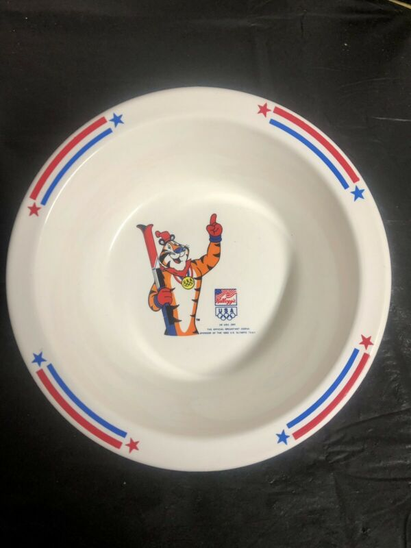 Vintage 1992 Kelloggs USA Summer Olympic Tony The Tiger Plastic Cereal Bowl