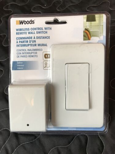 Woods Indoor Remote Control For Lights with Wall Switch