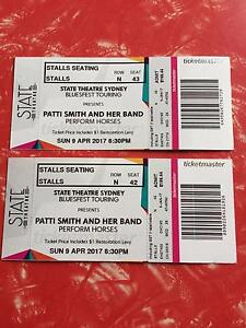 Bluesfest - 2 x tickets - Patti Smith and her band perform Horses Narrabeen Manly Area Preview