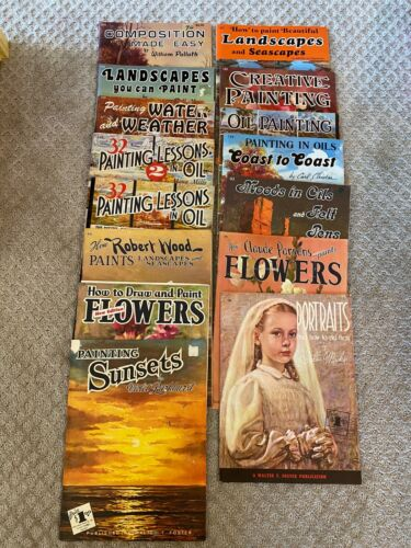 Lot of 17 Vintage Walter T. Foster Art Instruction Manuals Books Oil Flower Draw
