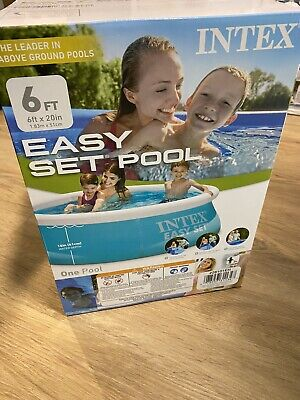 Intex 6 ft x 20 In Easy Set Inflatable Swimming Pool BRAND NEW In Hand