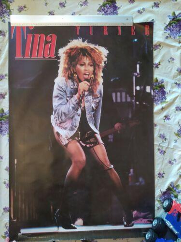 TINA TURNER Vintage Big 80s Poster ROCK 80s