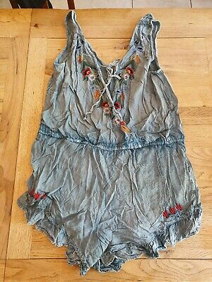 Kiss The Sky Blue Tie Dye Boho Playsuit From Asos Size Small
