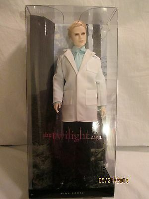 "Barbie Pink Label The Twilight Saga ""Carlisle"" Doll Stand Included"