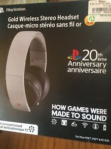 20th Anniversary Gold Wireless Stereo Headset