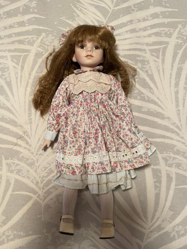 """Porcelain Doll 16"""" Collector Series FAO Schwarz"""