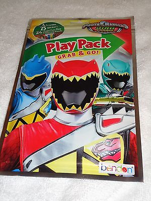 NEW SABAN'S POWER RANGERS PLAY PACK GRAB & GO CRAYONS STICKERS COLORING BOOK