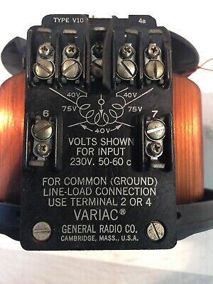 General Radio Co. Variac Transformer V10h