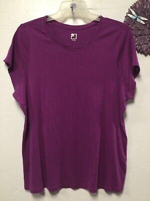 Womens Top T Shirt Style Knit Size 3 X Purple Jcp 67