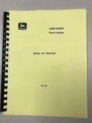 John Deere 60 Full Parts Manual Catalog Pc244