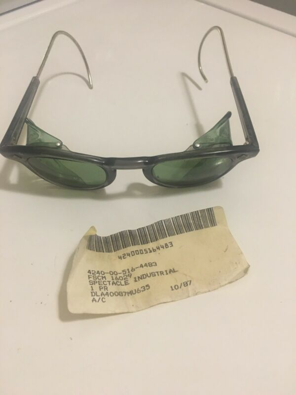 American Optical AO Safety SUNGlasses. Industrial Protective Eyewear Vintage New