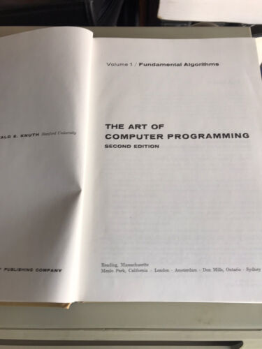 Art Of Computer Programming Volume 2 By Donald Knuth - $30.00