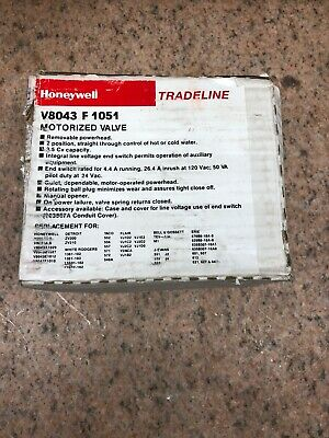 Honeywell Tradeline 1 Motorized Zone Valve V8043f1051 24vac