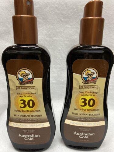 Australian Gold Spray Gel Sunscreen with Instant Bronzer, Mo