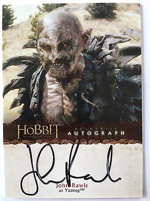 The HOBBIT - John Rawls as YAZNEG - Autogramm Karte / Autograph Card