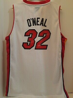 Shaquille O'Neal MIAMI HEAT REEBOK NBA SEWN STITCHED Jersey YOUTH XL