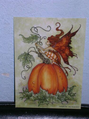 Amy Brown - Pumpkin Fae - Mini Print