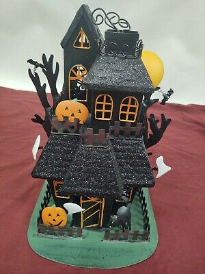 Haunted House Candle Holder Metal Halloween Tealight Kohl's Ghost Votive Spooky