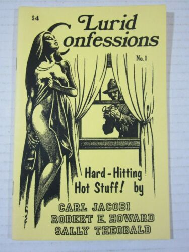 Lurid Confessions #1 6/1986-hard hitting pulp reprints-Jacobi-Howard-FN+