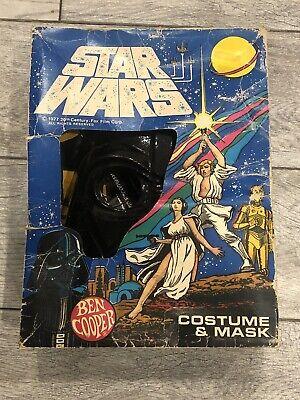 VINTAGE STAR WARS 1977 DARTH VADER HALLOWEEN COSTUME IN BOX (CHILD LARGE) - NEW!