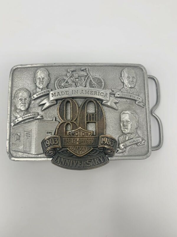 1982 Rare Harley Davidson 80th Anniversary Founders Belt Buckle 2003/3000 Made