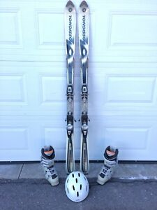Downhill Skis, Bindings, Boots