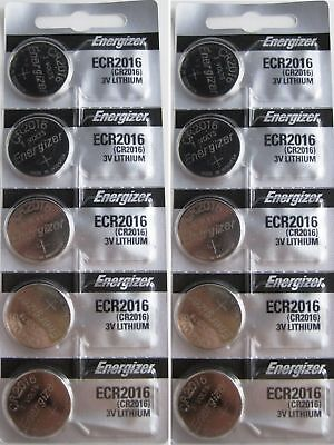 Lot of 10 PC ENERGIZER CR2016 WATCH BATTERIES 3V LITHIUM CR 2016 Coin ECR2016