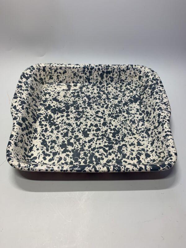 Vintage Dr. Douglas Wonder Baker II Splatter Design Ceramic Bakeware