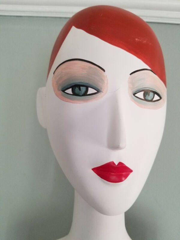 Vintage 1970s Female Modern Department Store Mannequin Head Torso Funky Flapper