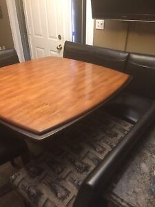 Beautiful solid wood kitchen table and chairs set