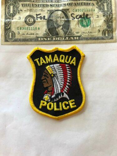 Tamaqua Pennsylvania Police Patch un-sewn in mint shape