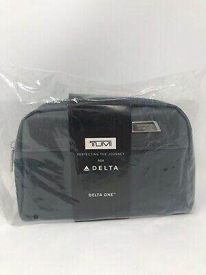 New TUMI Travel POUCH Accessory Case Toiletry BAG~Delta One Business Amenity Kit