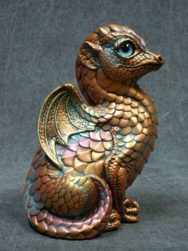 Windstone Editions NEW * Copper Patina Fledgling Dragon * Statue Figurine
