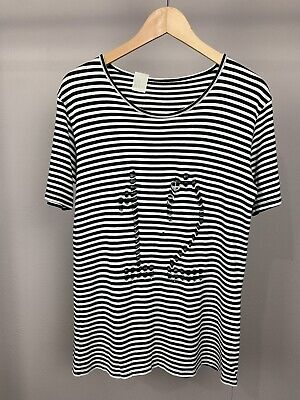 N.HOOLYWOOD/Mister Hollywood Sz Med Men Cobain Striped 12 CutOut Limited 643 Pcs