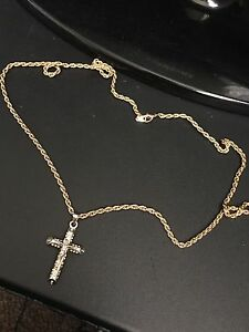 Chain with cross $10 not real gold