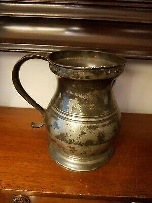 Antique Pewter Tankard Quart Pot Beer Cider drinking breweriana