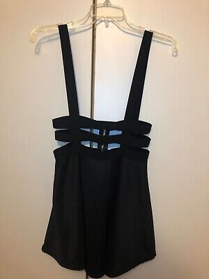 Costumes With Black Skirt (Costume Caged Suspender Mini Skirt With)