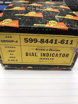 1 Pc. Brown Sharpe Jeweled Dial Indicator 599-8441-611. Made In Usa