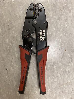 Klein Tools 3005cr Ratcheting Crimper Redblack Handle