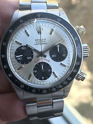 Vintage Rolex Cosmograph Daytona FLOATING Big Red Stainless Steel Watch 6263